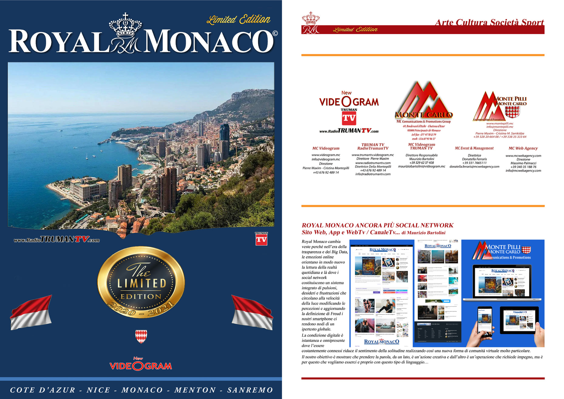 Copertina Royal Monaco APP editoria on Line