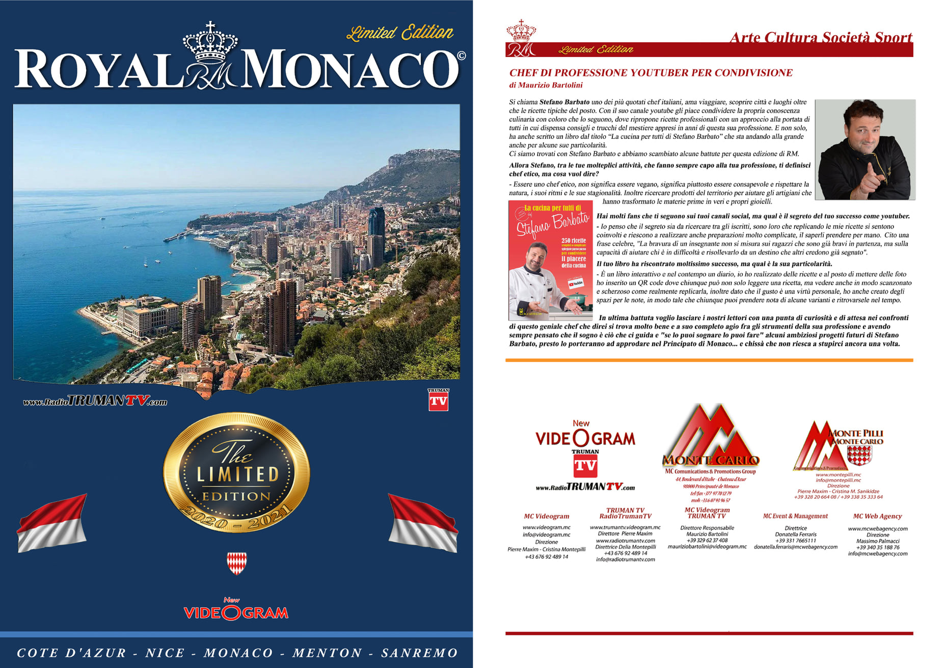 Copertina Royal Monaco Stefano Barbato Chef